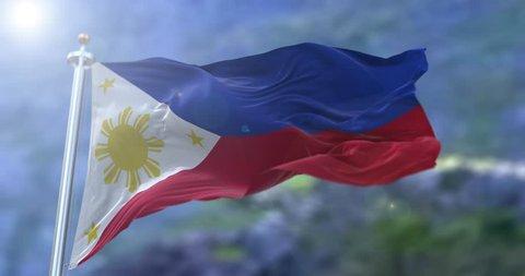 Philippine flag - seamless loop