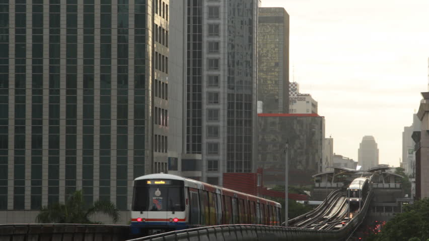 Bangkok Elevated SkyTrain in Thailand | Shutterstock HD Video #1028648822