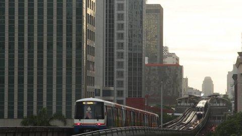 Bangkok Elevated SkyTrain in Thailand