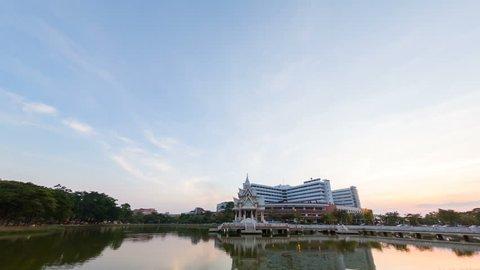 PHITSANULOK, THAILAND - MAY 1, 2019 : Naresuan University and Hospital Naresuan University, Phitsanulok Province, Thailand