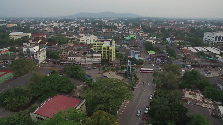 Aerial Shot Of Surat Thani Stock Footage Video 100 Royalty Free 1028892002 Shutterstock