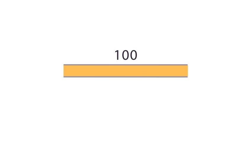 Progress bar. columnar representation. infographics