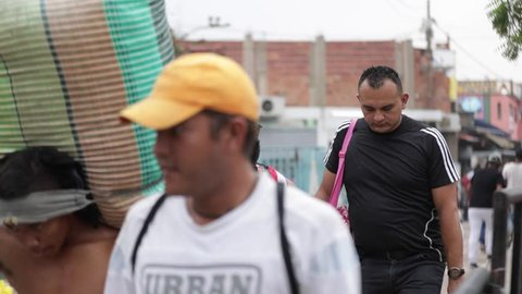 Cucuta/Venezuela - May 1, 2019: Venezuelan migrant exodus of people 2