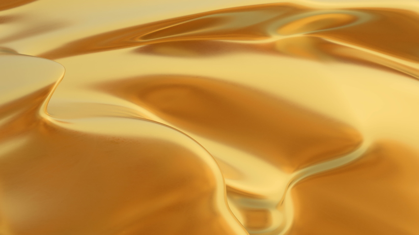 Abstract gold liquid. Golden wave background. Gold background. Gold texture. Lava, nougat, caramel, amber, honey, oil. | Shutterstock HD Video #1029658322