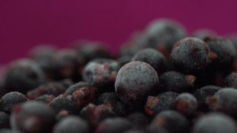 Frozen Black Currants. Frozen Fruits