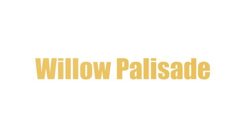 Willow Palisade Word Cloud Animated Isolated On White