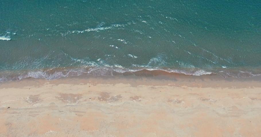 Aerial footage of beautiful tropical island beach.   Shutterstock HD Video #1029974852