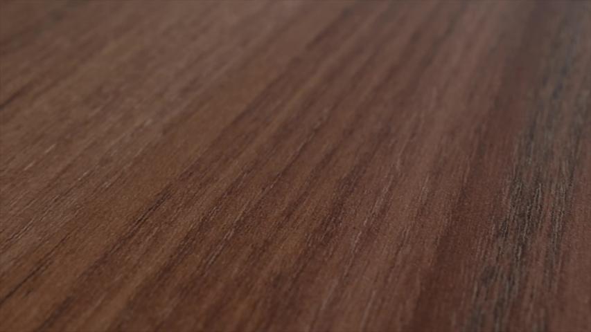 Macro shot of wood parquet, ground. Detailed close up  brown wooden interior decor pan movement.   | Shutterstock HD Video #1030114232