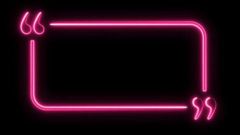 Neon lights abstract motion animated background.Abstract motion lighting equipment and lights effects.  Neon lights brackets. SERIES [ 1-20 ]
