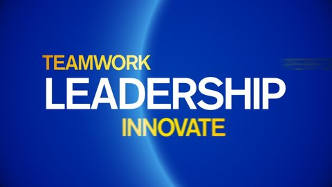 4k Leadership Animated Tag Word Cloud, Text Design Animation, Kinetic Typography.