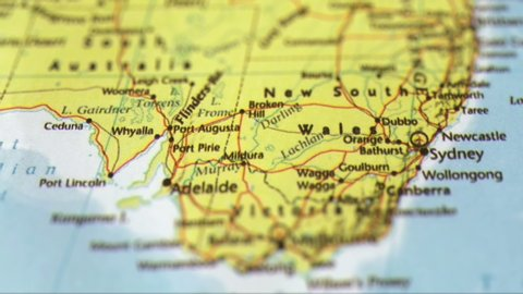 Australia Physical Map Stock Video Footage - 4K and HD Video Clips ...