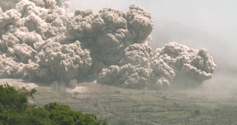 Volcano Erupts Giant Pyroclastic Flow Destroying All In It's Path - BungIII | Shutterstock HD Video #1030928912