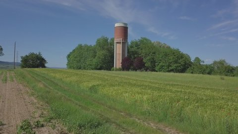 Water Tank Field France Alsace