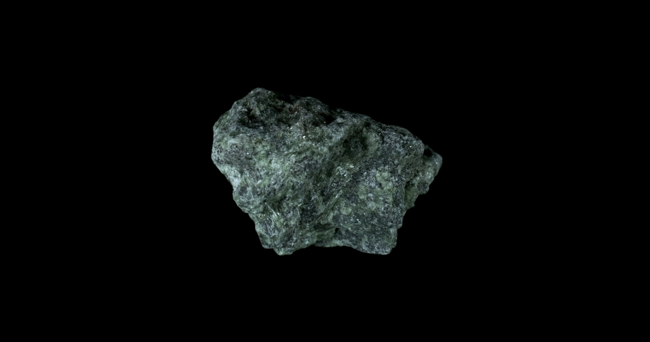 Blue Apatite Mineral Turning on Black | Shutterstock HD Video #1031185682
