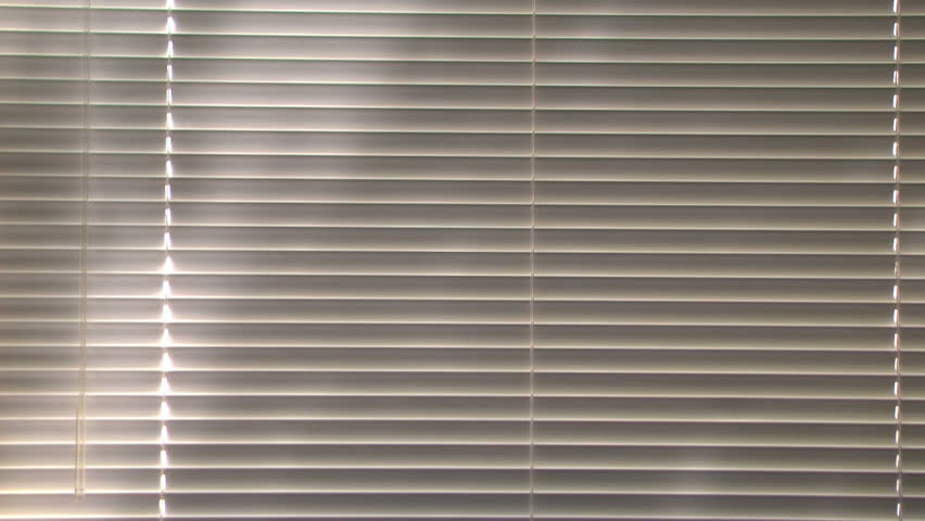 Clips For Window Blinds Part - 50: Simple Interior Shot Of A Window With Venetian Blinds. Outside Is Sunshine  And A Tree