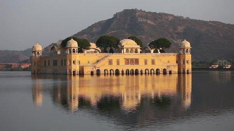 JAIPUR, INDIA - NOVEMBER 18, 2012: The Jal Mahal Water Palace, Jaipur, India