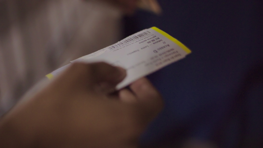 Close-up: Checking Ticket for Football Match - Rio de Janeiro, Brazil | Shutterstock HD Video #1031649782