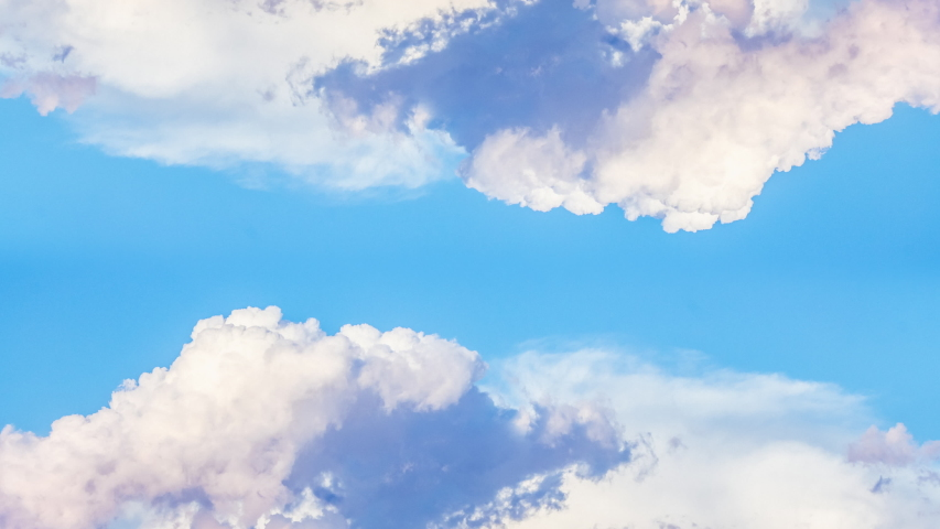 CLOUDS TIME LAPSE, BUILDING MOTION CLOUD WITH BLUE SKY. Puffy fluffy white clouds blue sky time lapse move cloud background Blue clouds sky time lapse cloud Cloudscape time lapse cloudy. 4k
