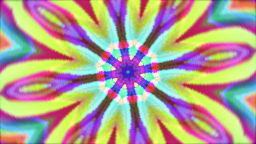 Vibrant kaleidoscope futuristic nostalgic 90s background. | Shutterstock HD Video #1032167162