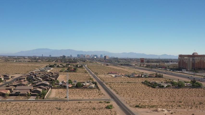 Drone Flight Over Las Vegas Nevada Suburbs | Shutterstock HD Video #1032843572