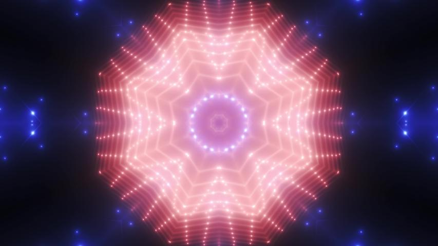 FLOOD LIGHT MULTICOLORED FLASHING SPOT LIGHT. WALL STAGE LED BLINDER BLINKING BLUE RED. CLUB CONCERT DANCE DISCO DJ BUSINESS BEAM DMX FASHION KALEIDOSCOPE LIGHT TUNNEL. SEAMLESS LOOP. 4K. VJ   Shutterstock HD Video #1032894992