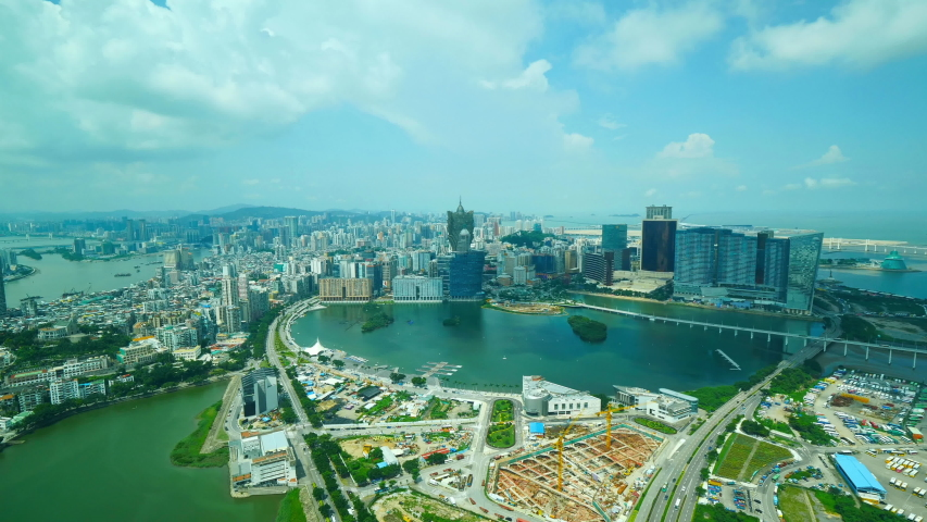 Macau China Urban City Timelapse With Road Traffic  and Daylight Skyline | Shutterstock HD Video #1033009952