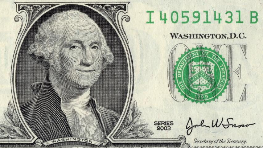 $1 ONE-DOLLAR Bill MOUNT RUSHMORE NATIONAL MEMORIAL MOUMENT Legal Tender U.S