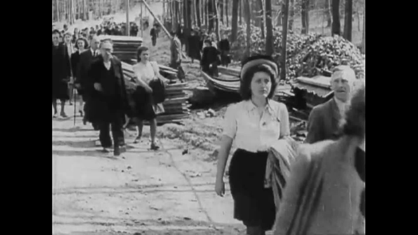 CIRCA 1940s - Footage of Arnstadt Buchenwald Nazi Concentration Camp victims.