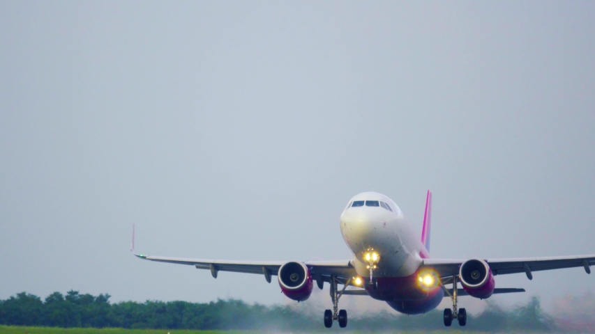 Airplane taking off. Aircraft takes off | Shutterstock HD Video #1033529102