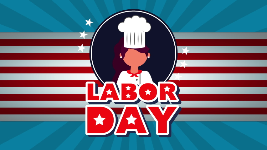 Celebration labor day with workers group animation ,4k video | Shutterstock HD Video #1033615562