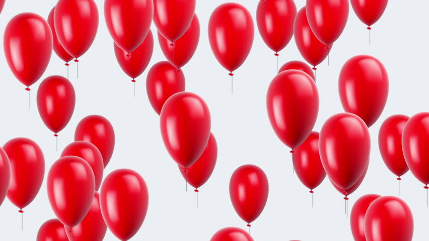 Flying balloons. Looping. Alpha channel is included.
