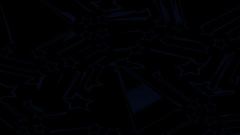 Animated Abstract background with rotating stars and random blue lines. Loop animation, Video pattern. Randomly generated geometric objects. Seamless motion design for poster, cover, branding, banner.