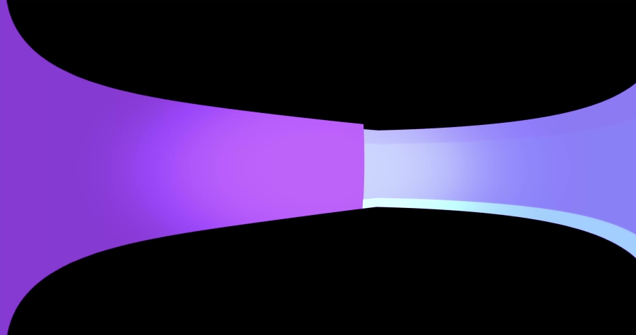 Animated abstract of a curving ring with purple shades of color. | Shutterstock HD Video #1033899992