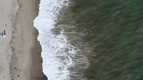 Aerial Shot Of Pacific Ocean USA West Coast California In Summer