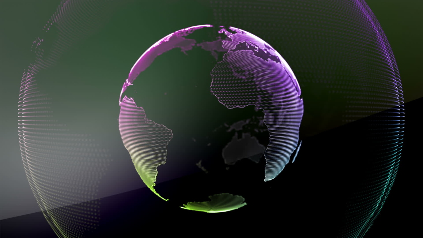 BIG DATA EARTH TEAMWORK Blue Marble Digital Clouds Earth rotating animation social future technology abstract business scientific growth network surrounding planet earth rotating Digital globe loop HD | Shutterstock HD Video #1034635172
