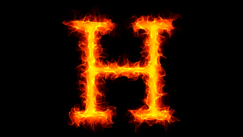 Stock video of letter h on fire 1034782 shutterstock altavistaventures Image collections