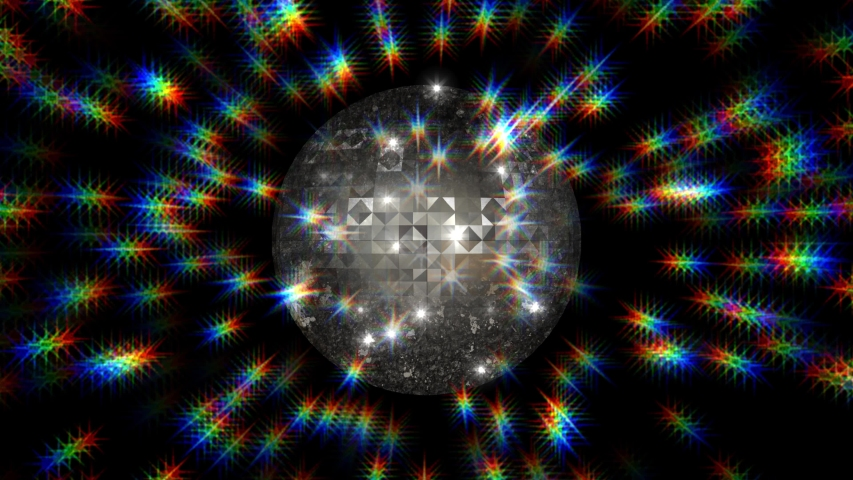 Celebrations disco mirror ball light and stars background | Shutterstock HD Video #1035509132