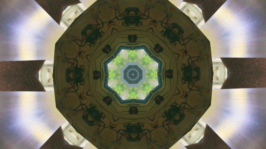 Abstraction. Colorful digital kaleidoscopic. Psychedelic hypnotic backdrop. Color kaleidoscope texture.  | Shutterstock HD Video #1035514832