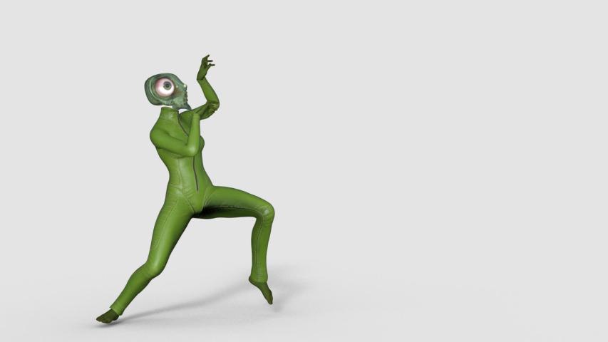 Fly monster dancing thriller dance, transparent background   Shutterstock HD Video #1035693002
