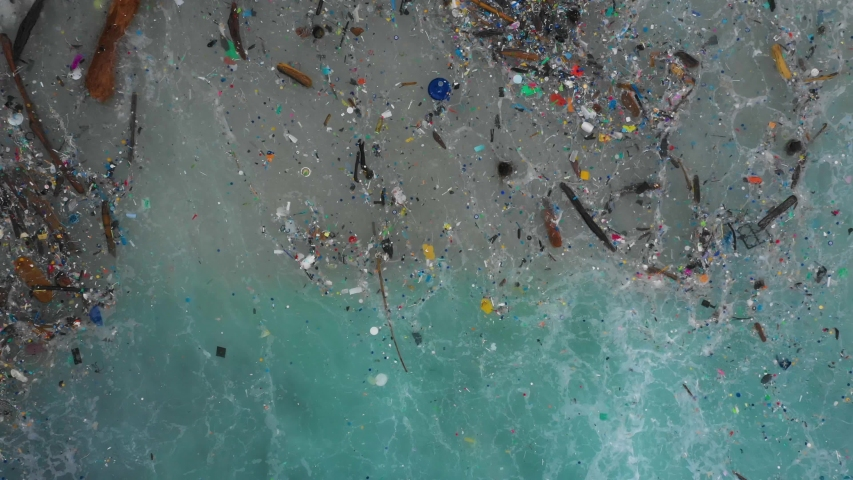 The worlds most polluted beach, Plastic marine debris. #1035829892
