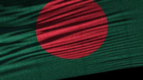 Flag of Bangladesh. Ideal for sport or any national event. Beautiful textures, 3d flag waving. Closeup 1080p Full HD or 4k video presentation
