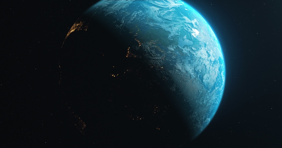 Earth Rotate. Rotating Earth In Deep Space. Earth Globe 4K. Round Planet In Deep Space. | Shutterstock HD Video #1036343282