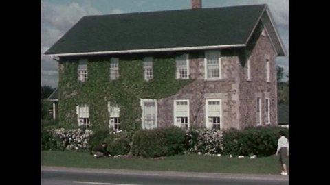 CIRCA 1960s - Spring House, the Rochester Historical Society, homesteads and inns are shown in New York, in 1963.