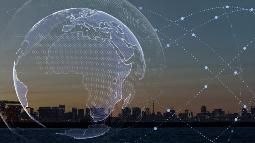 World map point, line, composition, representing the global, Global network connection,international meaning. | Shutterstock HD Video #1036815482