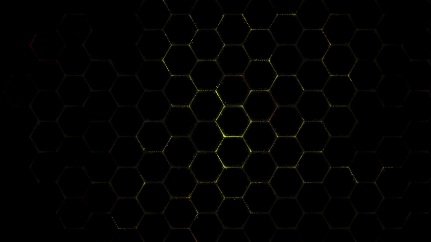 Futuristic abstract hexagonal grid background growth line