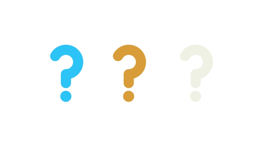 Motion design animation of questionmarks popping up | Shutterstock HD Video #1037060702