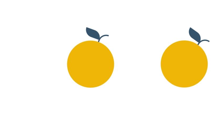 Motion design animation of rolling orange fruits | Shutterstock HD Video #1037060822
