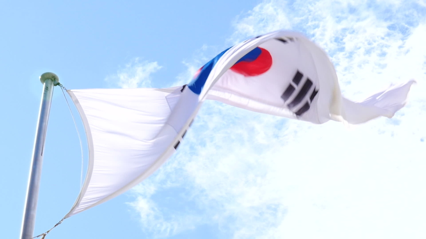 The national flag of Republic of Korea | Shutterstock HD Video #1037079752