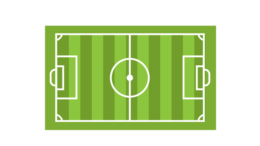 Football or soccer Field Animation.pop up effect.transparent background.Alpha Channel Included.otion graphic come in on scene.  | Shutterstock HD Video #1037171402