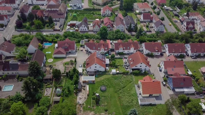 High angle view on a huge town in Germany with old architecture, 4k | Shutterstock HD Video #1037182922